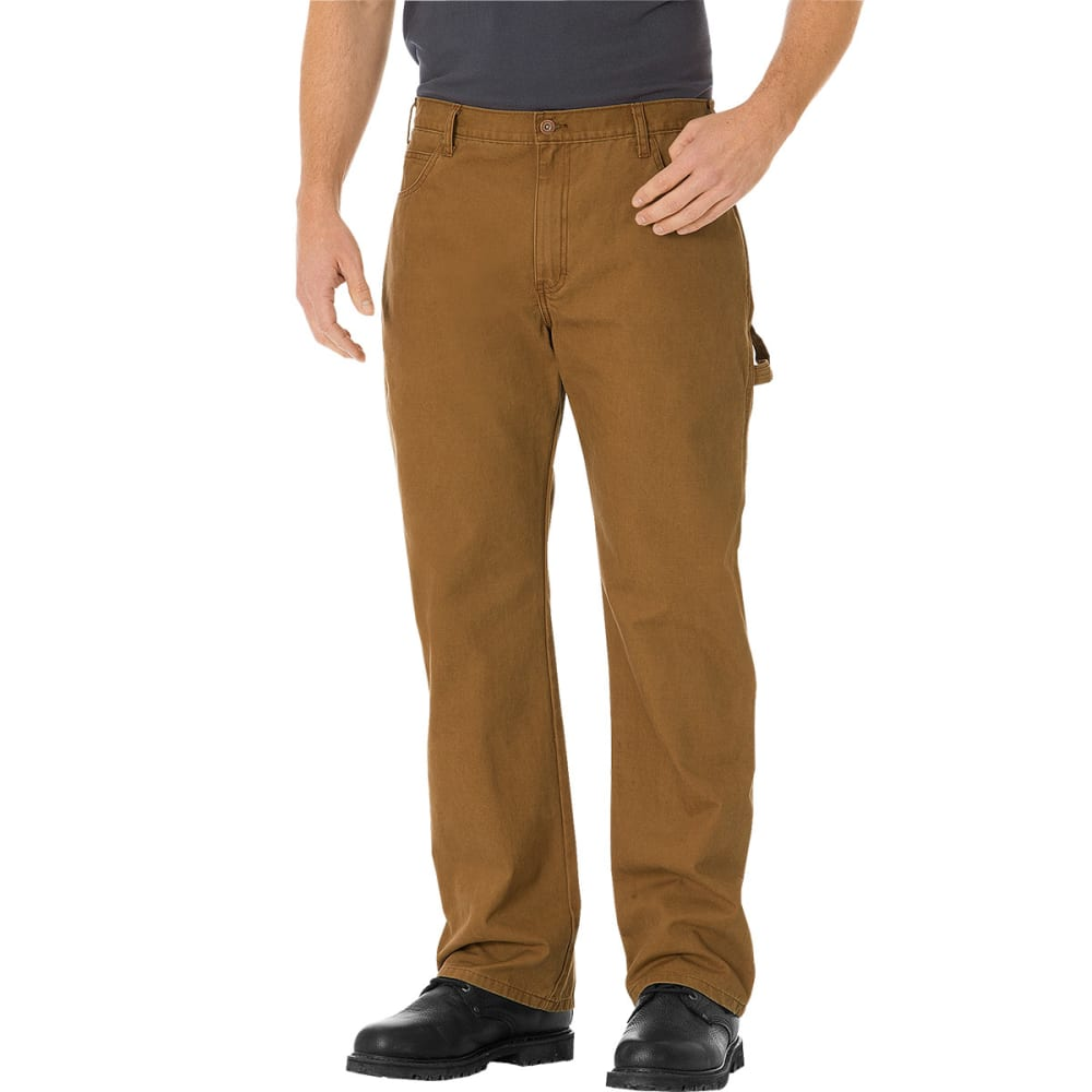 Dickies Men's Relaxed Straight Fit Carpenter Duck Jeans - Brown, 30/30