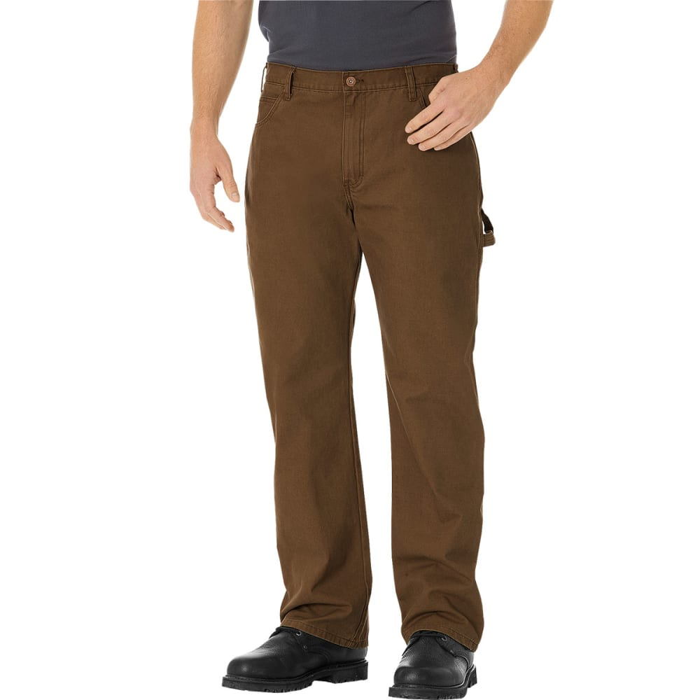 DICKIES Men's Relaxed Straight Fit Carpenter Duck Jeans - TIMBER