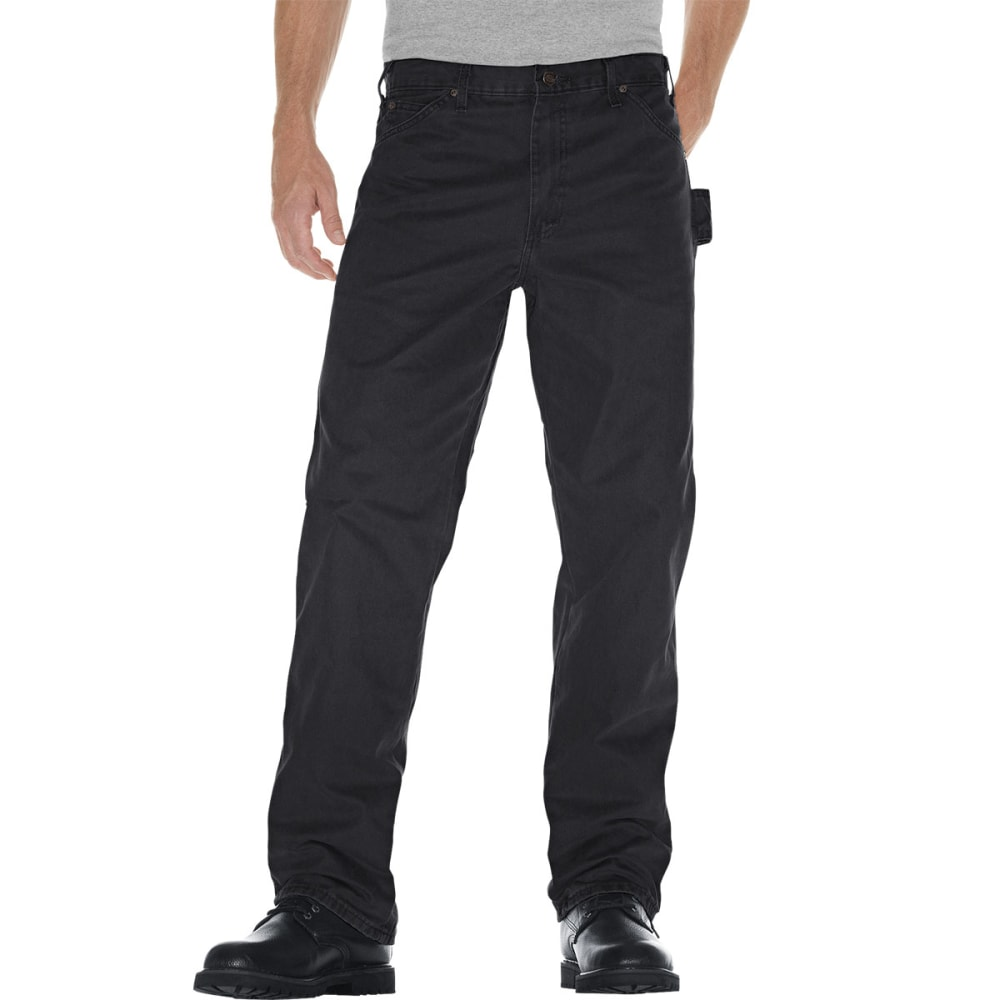 Dickies Men's Sanded Duck Canvas Carpenter Jeans - Black, 42/32