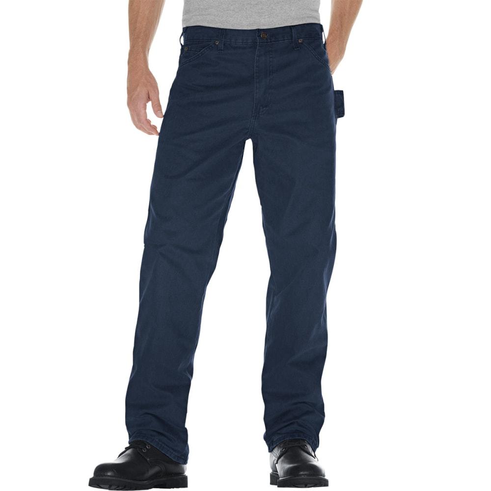 DICKIES Men's Sanded Duck Canvas Carpenter Jeans - NAVY