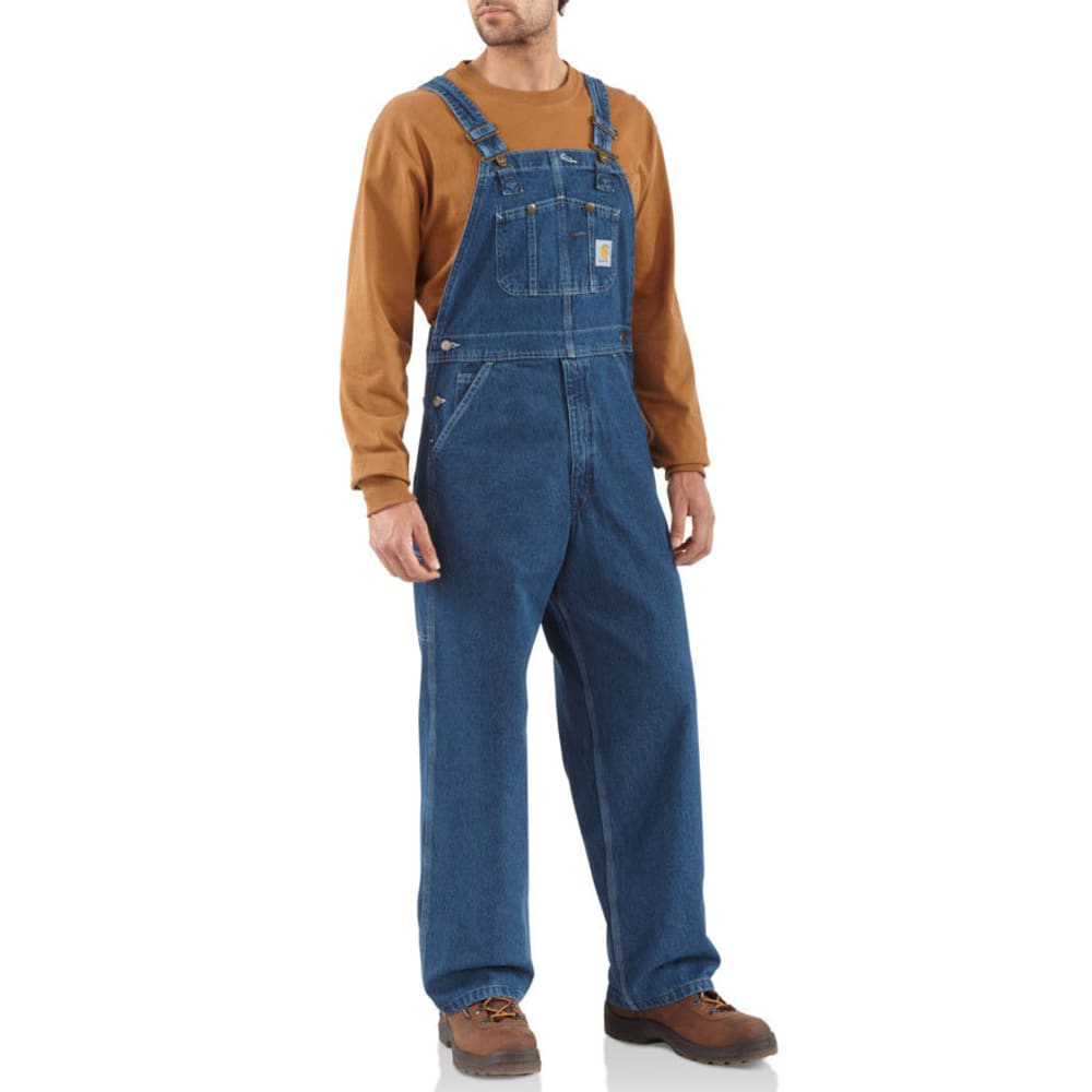 CARHARTT Men's Washed Denim Unlined Bib Overalls 28/28