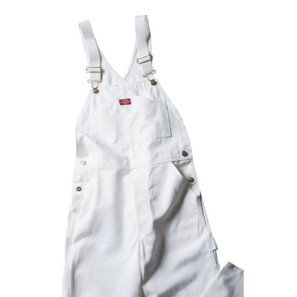 Dickies Men's Painter's Bib Overalls - White, 32/30