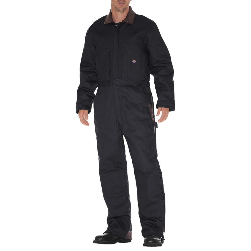 DICKIES Men's Duck Insulated Coverall - BLACK