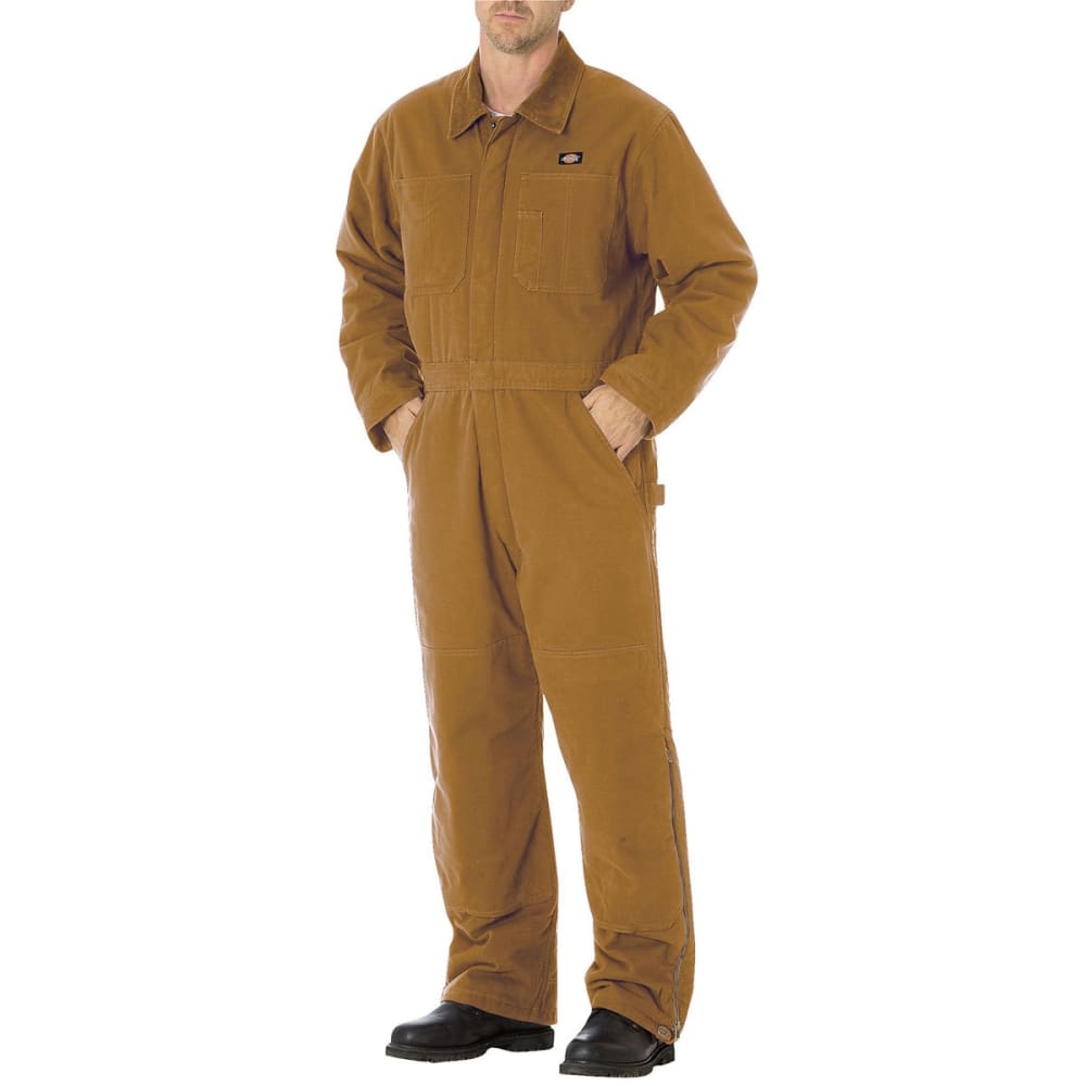 DICKIES Men's Sanded Duck Insulated Coveralls - RBD BROWN DUCK