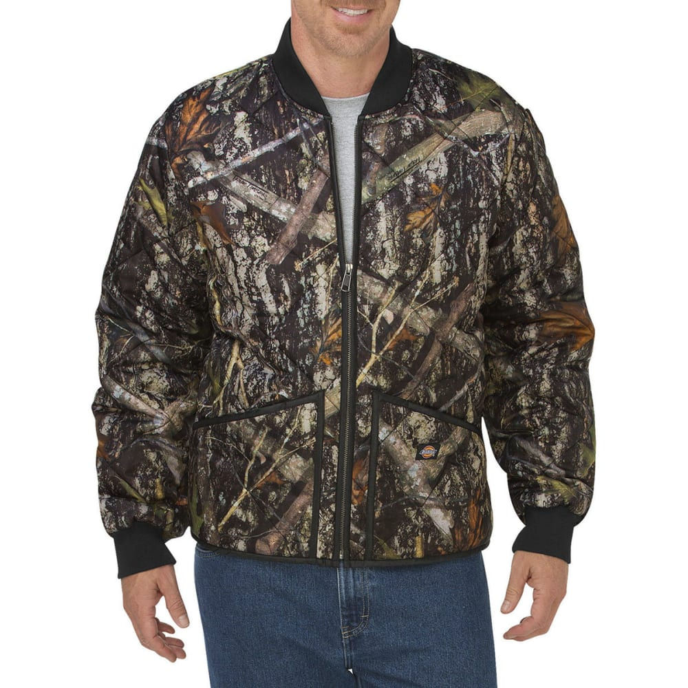 Dickies Men's Diamond Quilted Camo Jacket - Brown, M