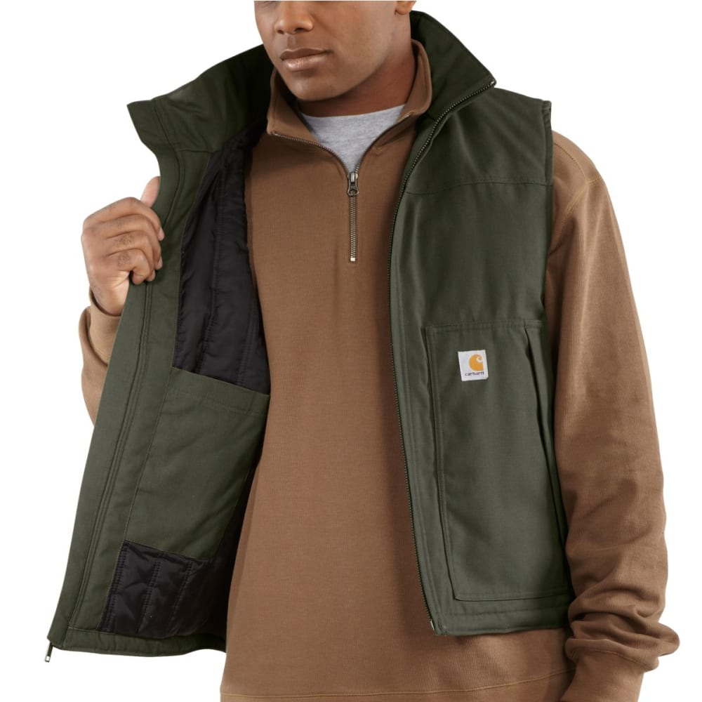 CARHARTT Men's Quick Duck Jefferson Vest - OLIVE