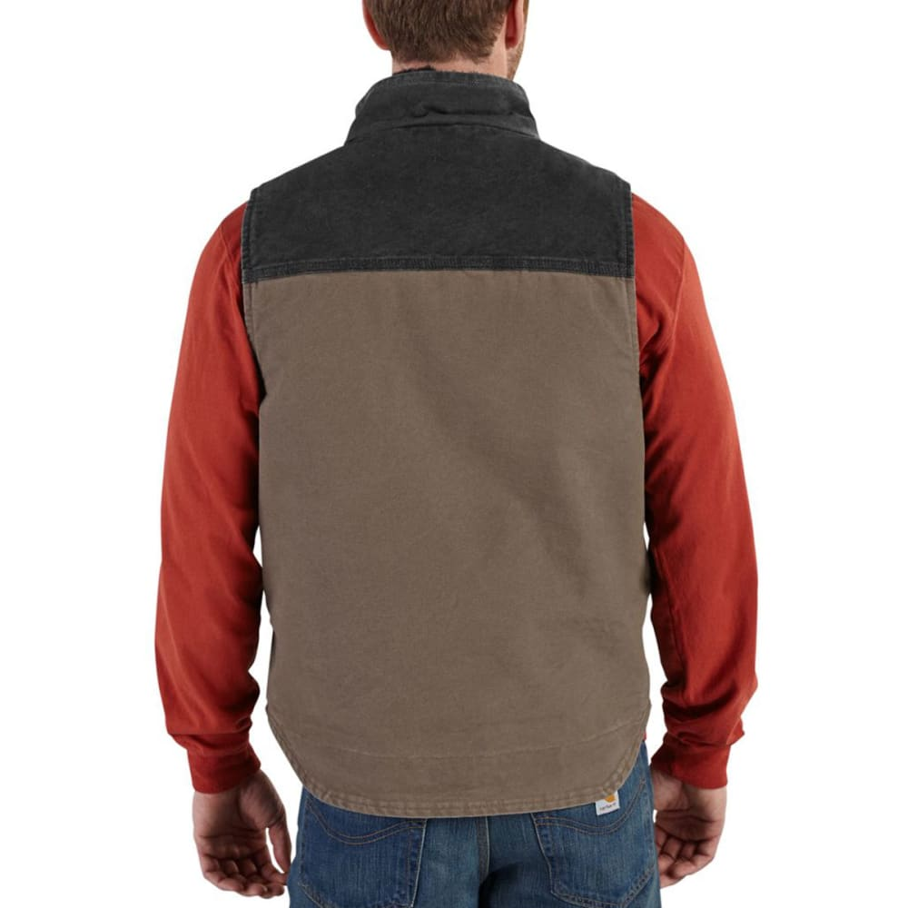 CARHARTT Men's Mock Neck Full-Zip Vest - 239 LIGHT BROWN