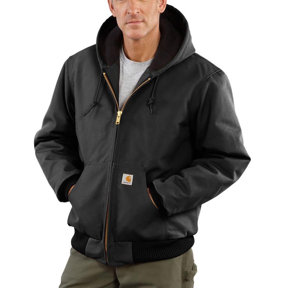 CARHARTT Men's Duck Active Quilt Lined Jacket - BLACK
