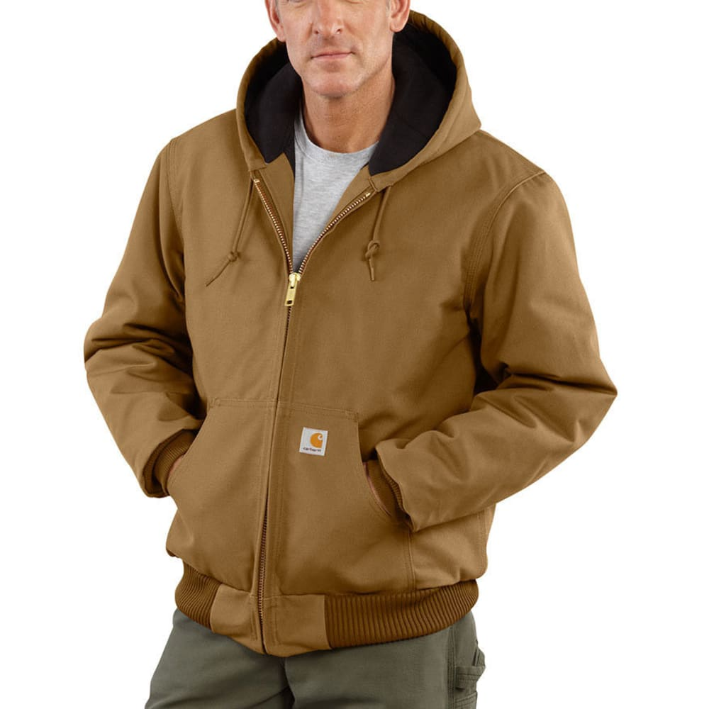 Carhartt Men's Duck Active Quilt Lined Jacket - Brown, M