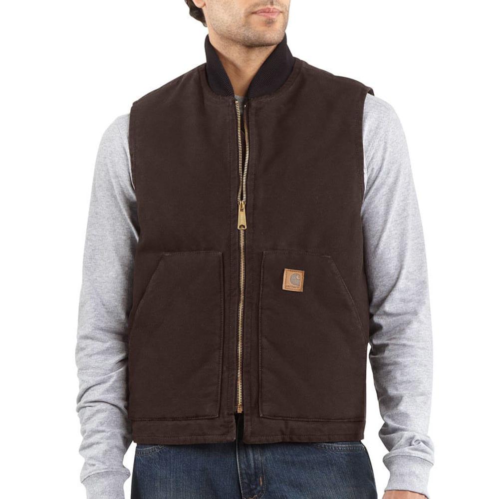 CARHARTT Men's Sandstone Arctic Quilt-Lined Vest - DARK BROWN