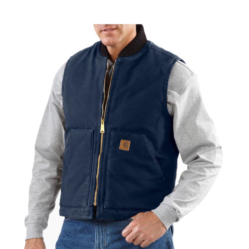 CARHARTT Men's Sandstone Arctic Quilt-Lined Vest - MIDNIGHT