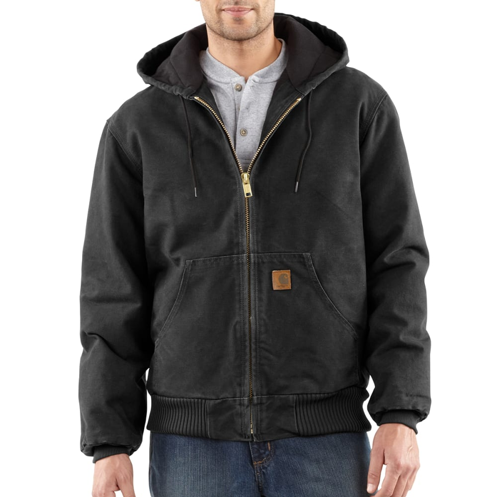 CARHARTT Men's Sandstone Duck Jacket - BLACK