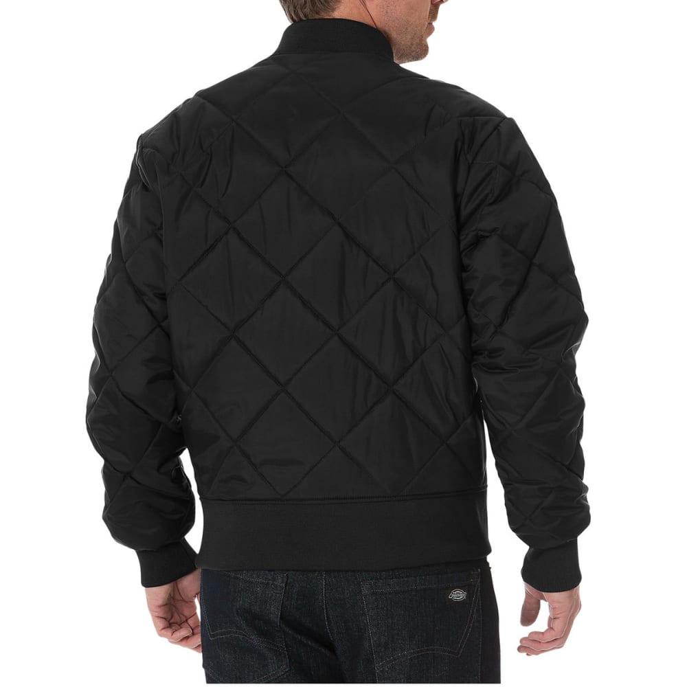 DICKIES Men's Diamond Quilted Nylon Water Resistant Jacket - BK BLACK