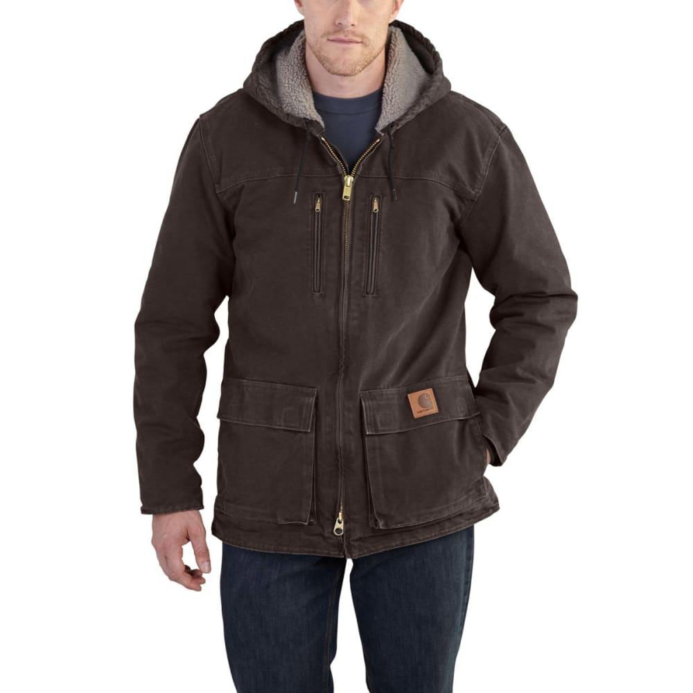 CARHARTT Men's Sandstone Jackson Coat - DKB DARK BROWN