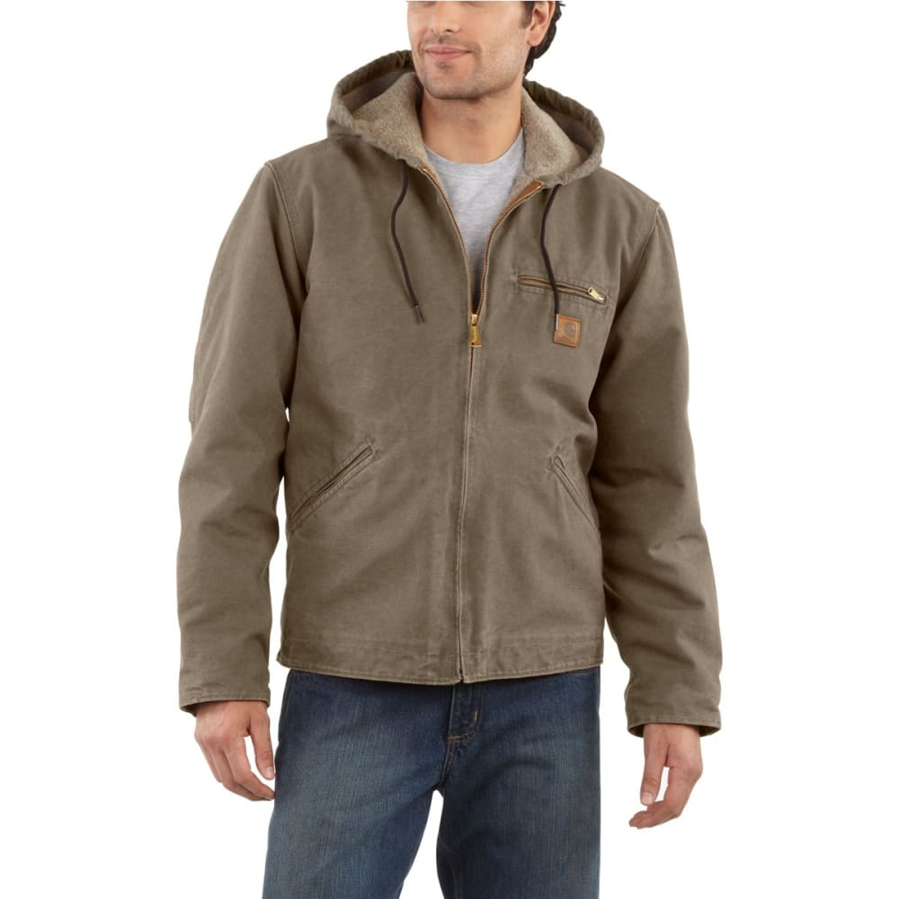 CARHARTT Men's Sandstone Sierra Sherpa Lined Hooded Jacket - LIGHT BROWN