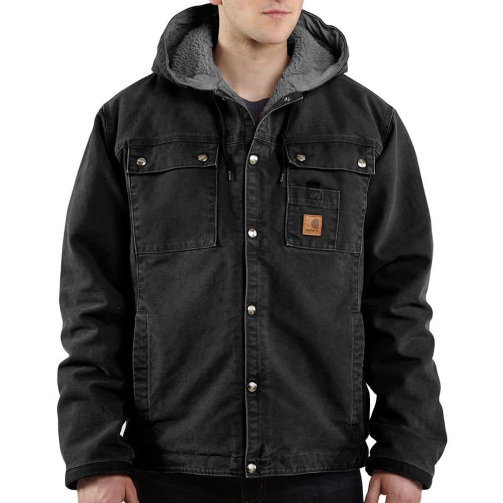 CARHARTT Men's Sandstone Hooded Jacket - BLK BLACK
