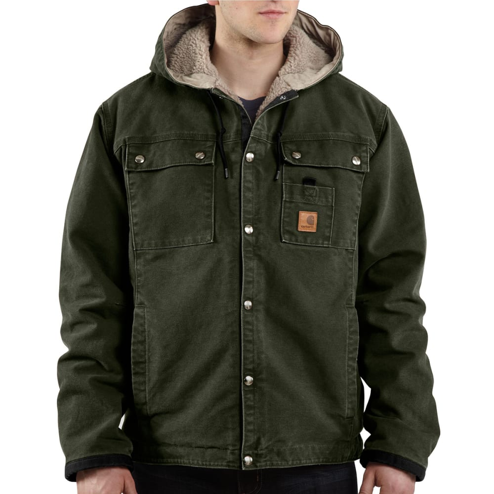 CARHARTT Men's Sandstone Hooded Jacket - MOS MOSS