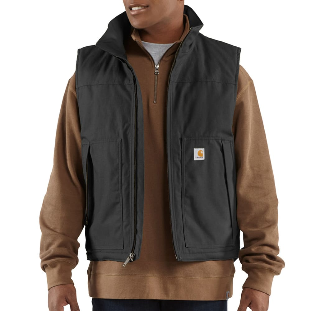 CARHARTT Men's Quick Duck Woodward Vest - BLACK