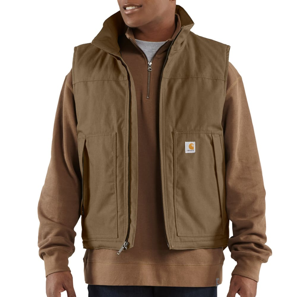 CARHARTT Men's Quick Duck Woodward Vest - CANYON BROWN