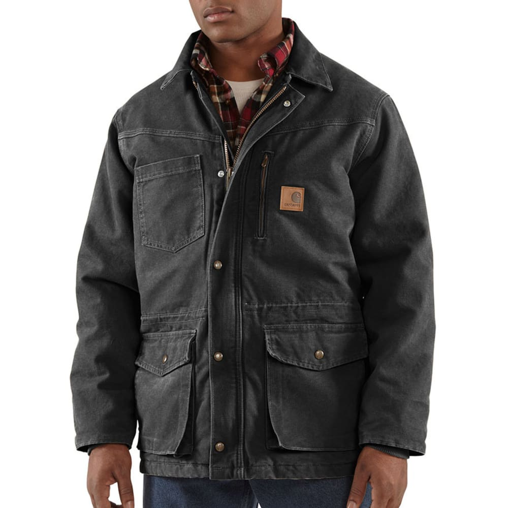 CARHARTT Men's Sandstone Rancher Coat - BLACK