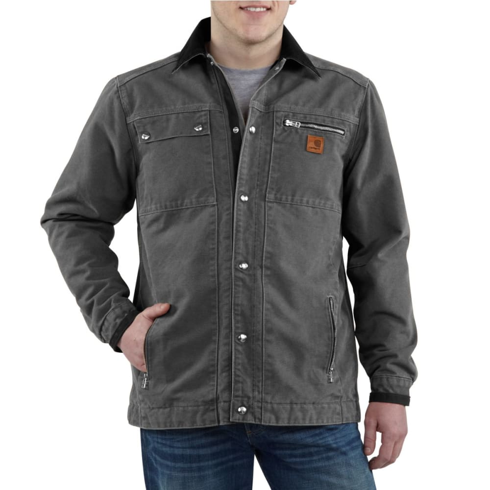 CARHARTT Men's Multi-Pocket Sandstone Jacket - GRAVEL