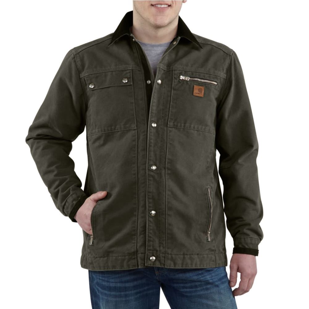 CARHARTT Men's Multi-Pocket Sandstone Jacket - WALNUT