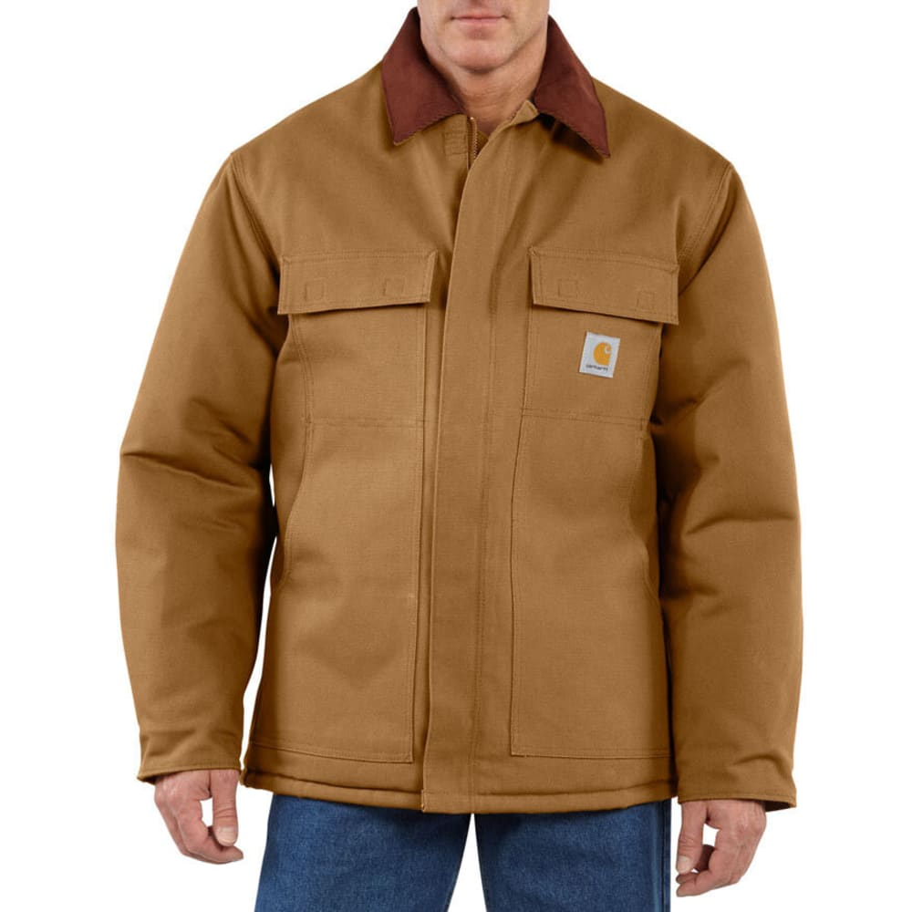 CARHARTT Men's Arctic Traditional Quilt Lined Coat - CARHARTT BROWN