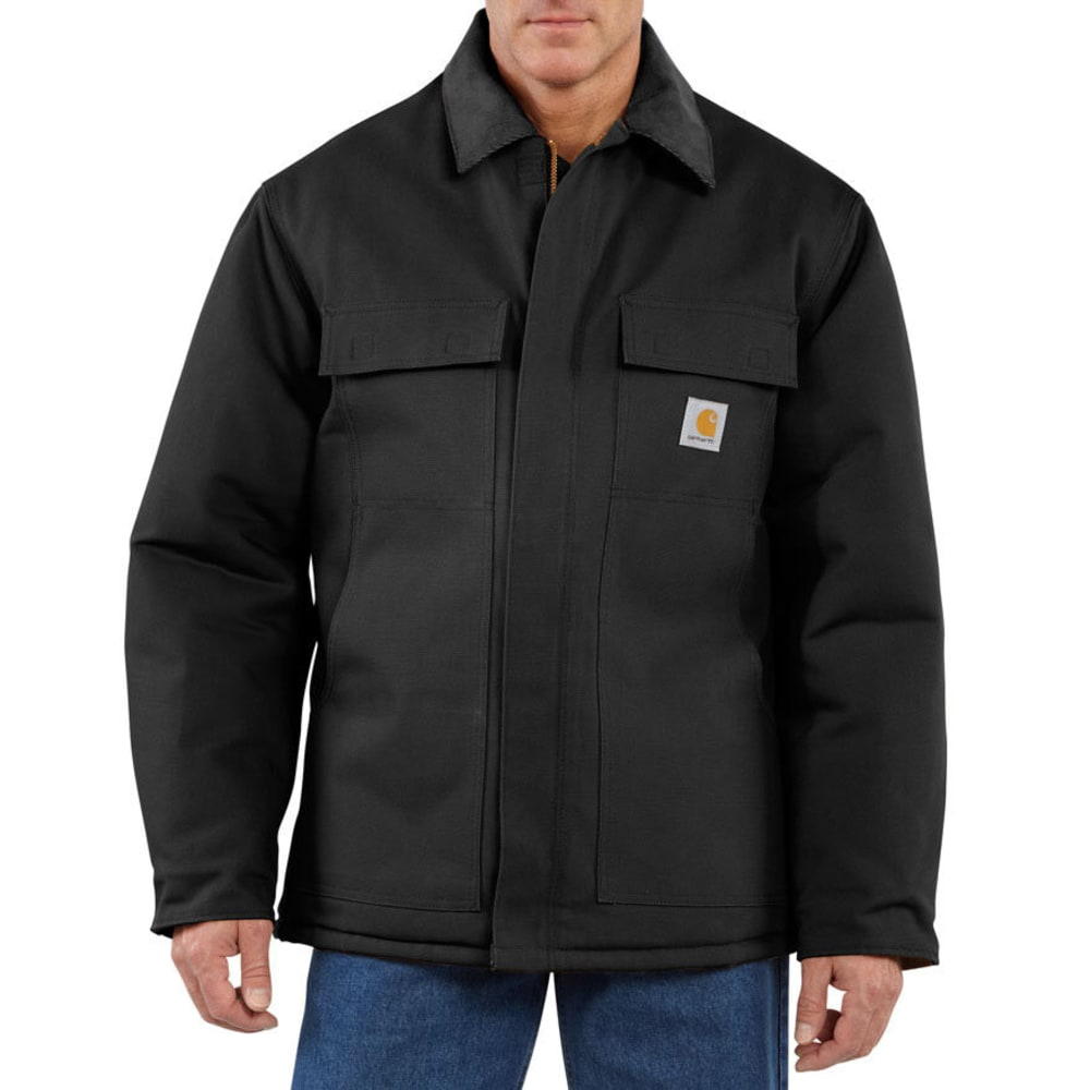 CARHARTT Men's Traditional Quilt Lined Coat, Extended Sizes - BLACK