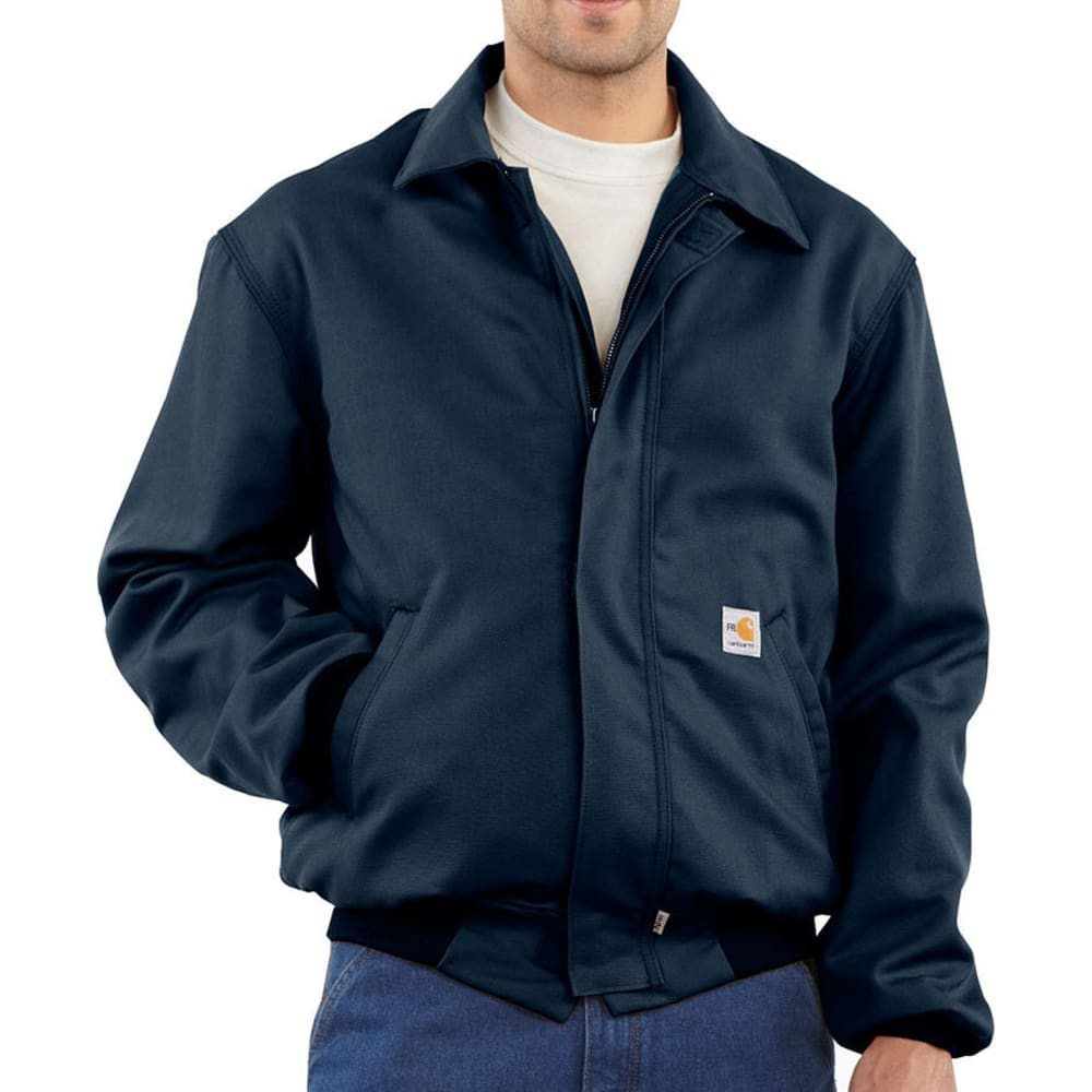 CARHARTT Men's Flame-Resistant All Season Bomber Jacket - DARK NAVY