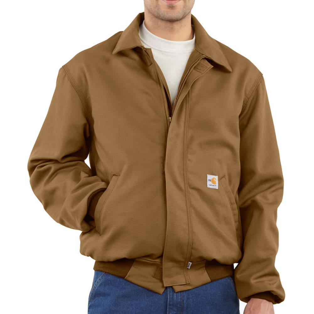CARHARTT Men's Flame-Resistant All Season Bomber Jacket, Extended Sizes - CARHARTT BROWN