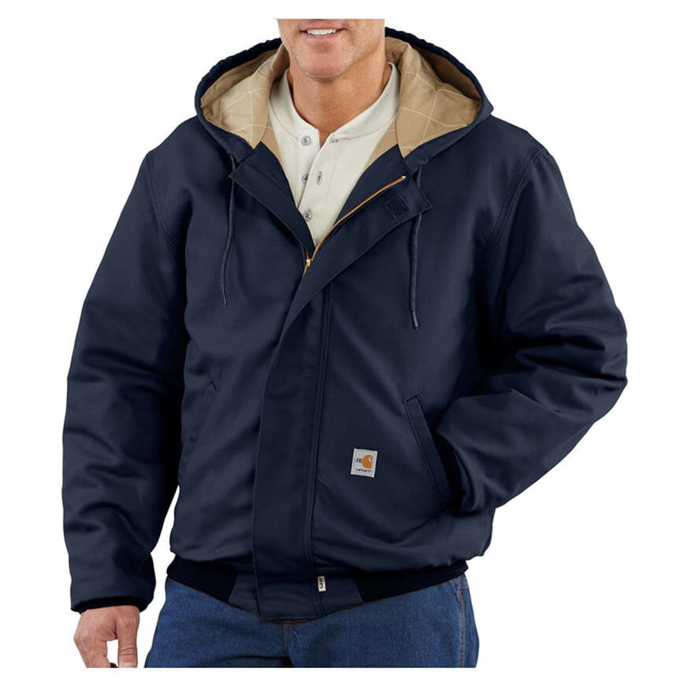 CARHARTT Men's Flame-Resistant Quilt-Lined Jacket, Extended Sizes - DARK NAVY