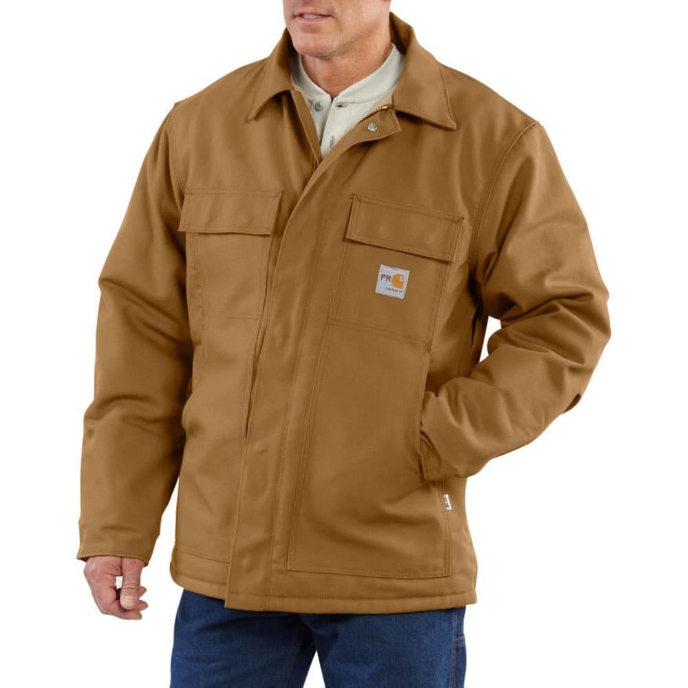 CARHARTT Men's Flame-Resistant Duck Traditional Quilt Lined Coat - CARHARTT BROWN