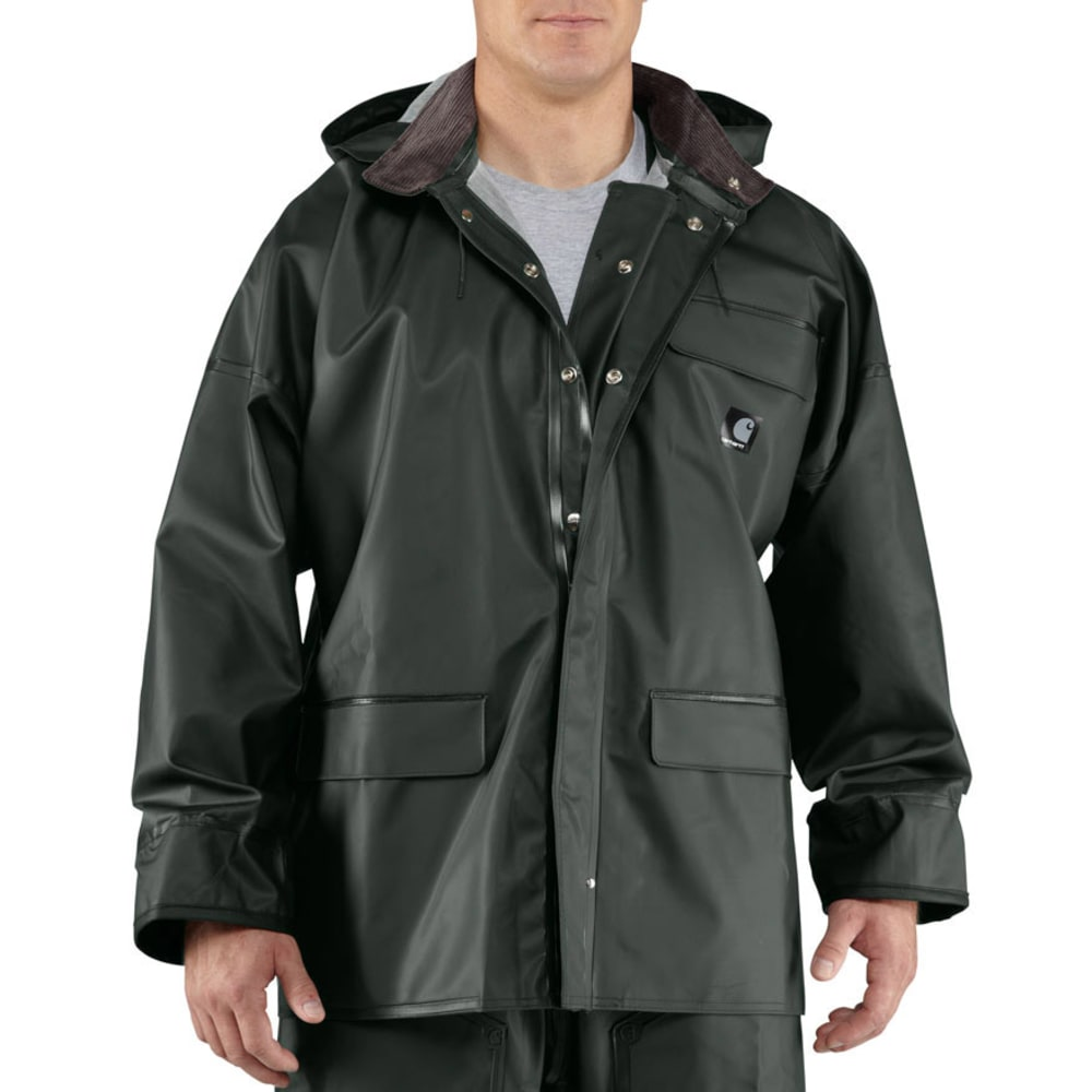 Carhartt Men's Surrey Pvc Rain Coat - Green, L