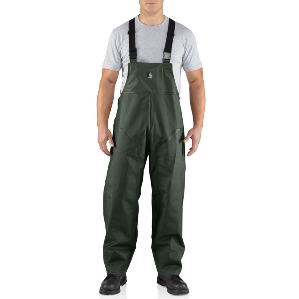 Carhartt Men's Surrey Pvc R39 Rain Bib - Green, XL