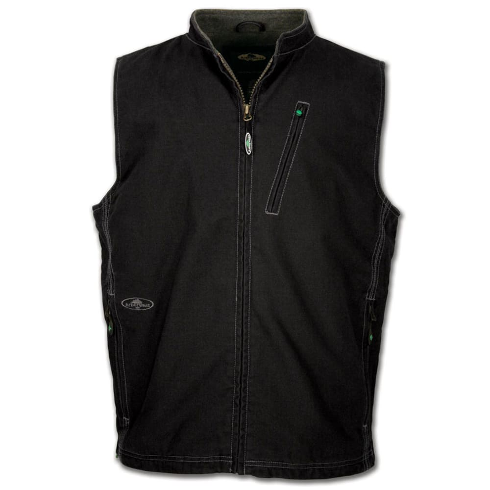 ARBORWEAR Men's Washed Canvas Vest - BLACK