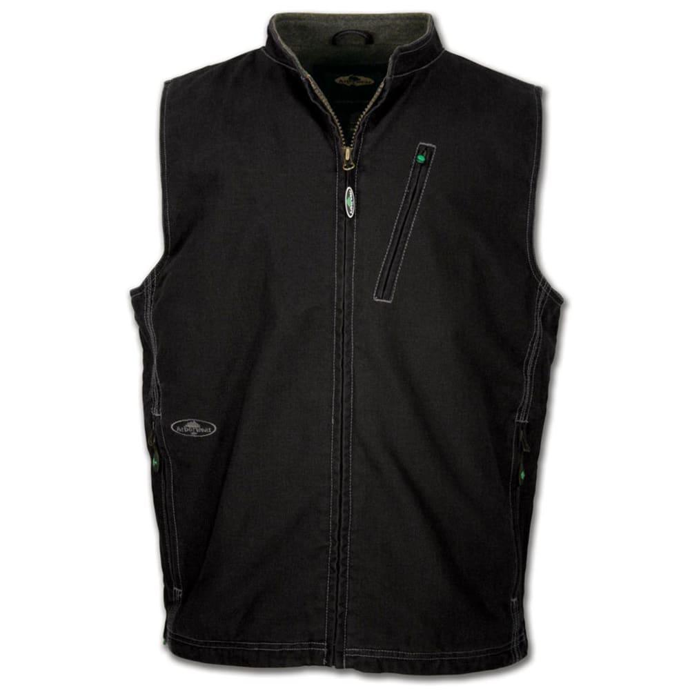 ARBORWEAR Men's Washed Canvas Vest - BLACK