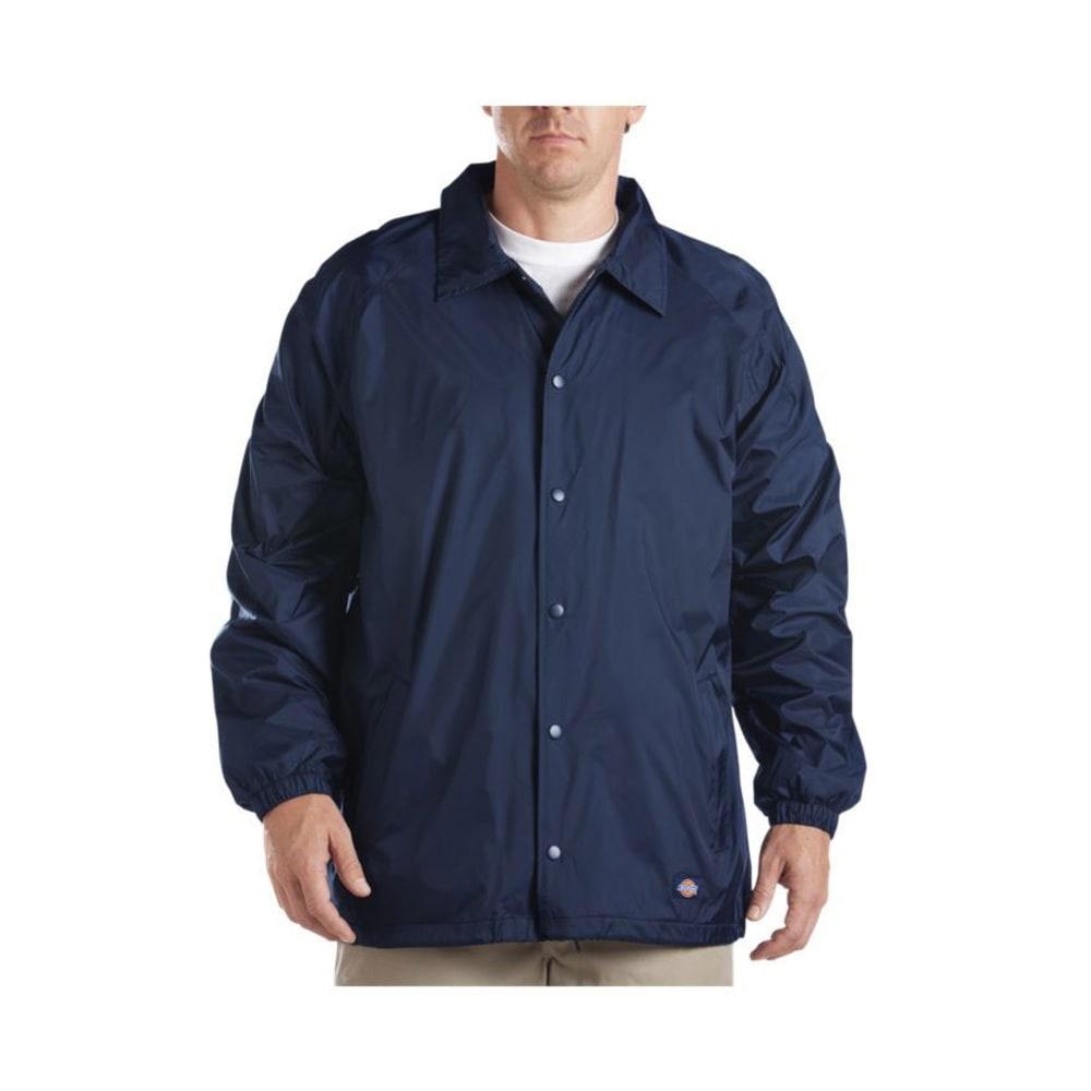 DICKIES Men's Snap Front Nylon Jacket - DARK NAVY