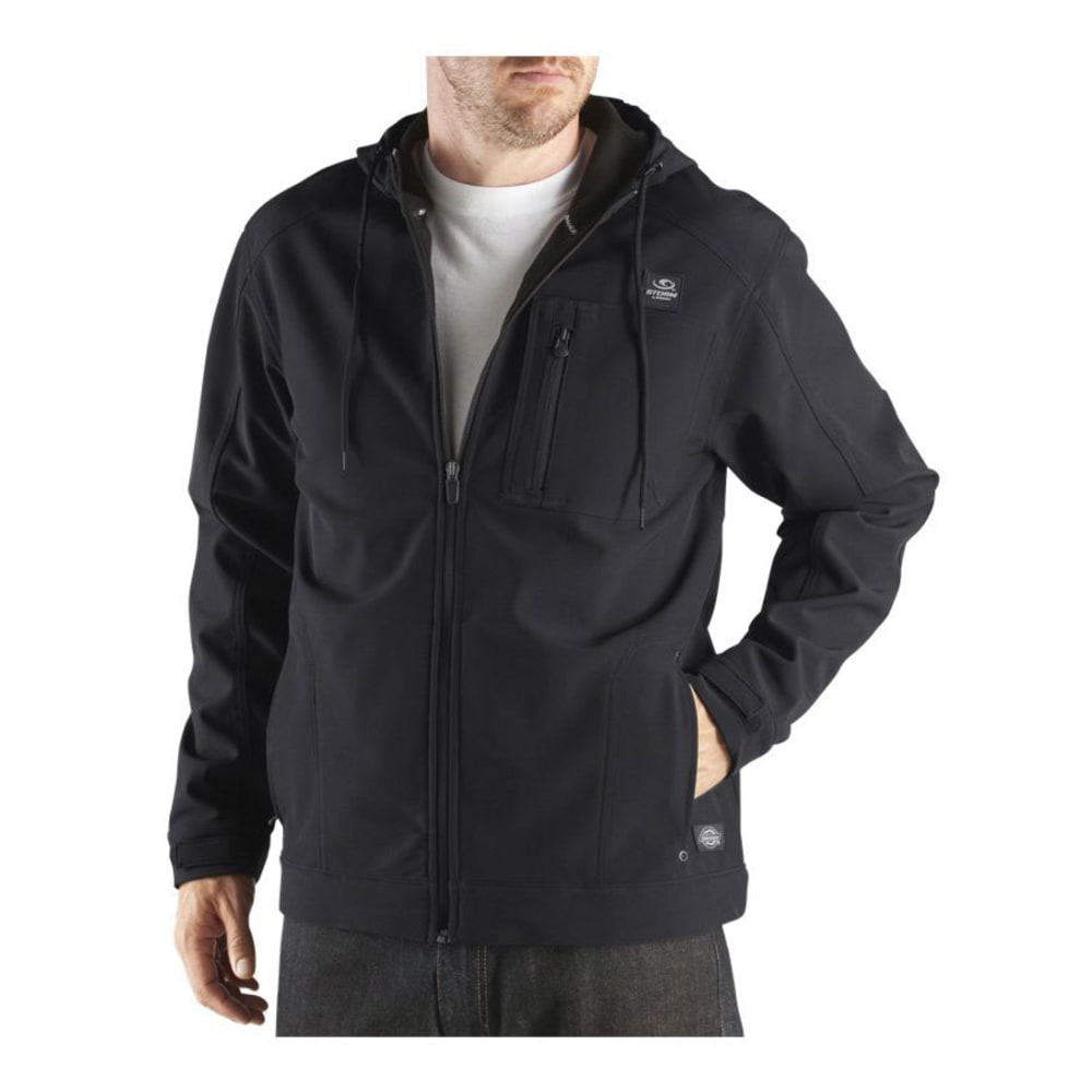 DICKIES Men's DPS Performance Soft Shell Hooded Water Resistant Jacket - BLACK