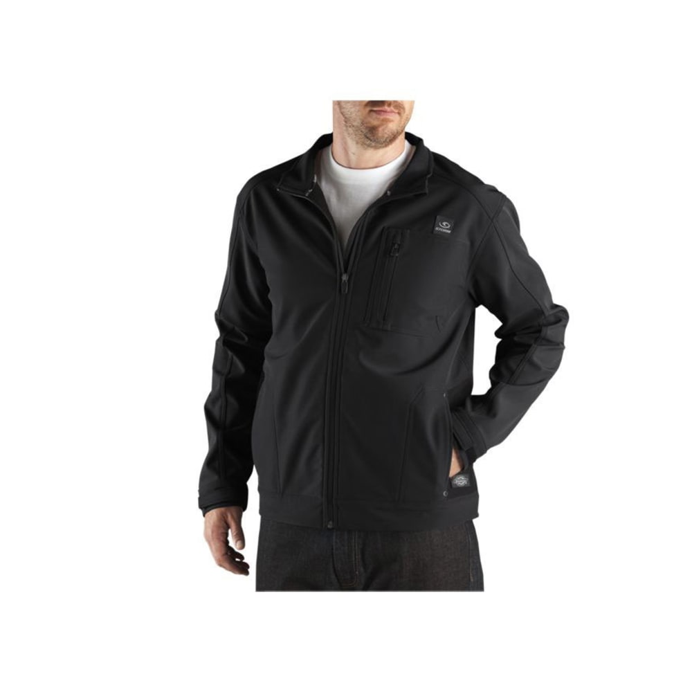 DICKIES Men's DPS Performance Soft Shell Water Resistant Jacket - BLACK
