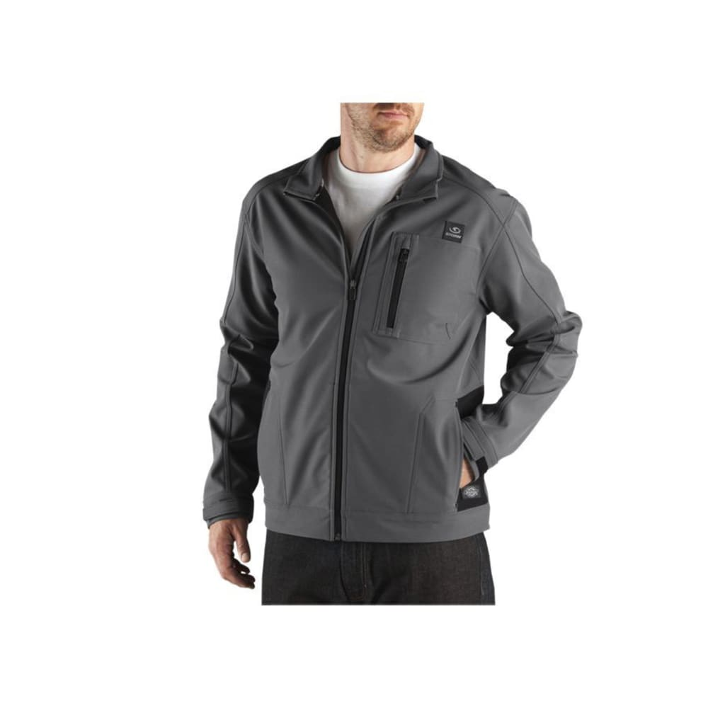 DICKIES Men's DPS Performance Soft Shell Water Resistant Jacket - CHARCOAL
