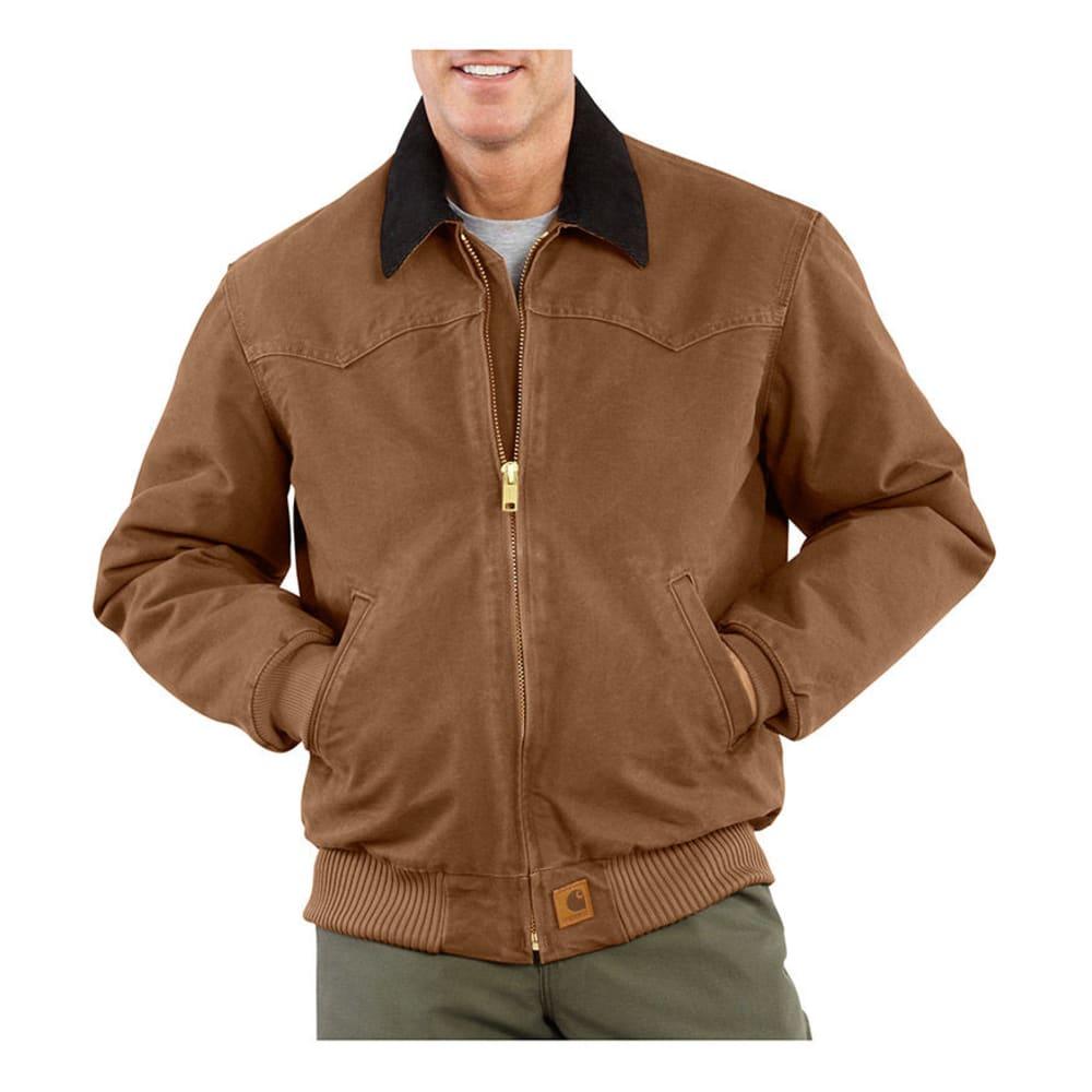 CARHARTT Men's Sandstone Santa Fe Jacket, Extended sizes - CARHARTT BROWN