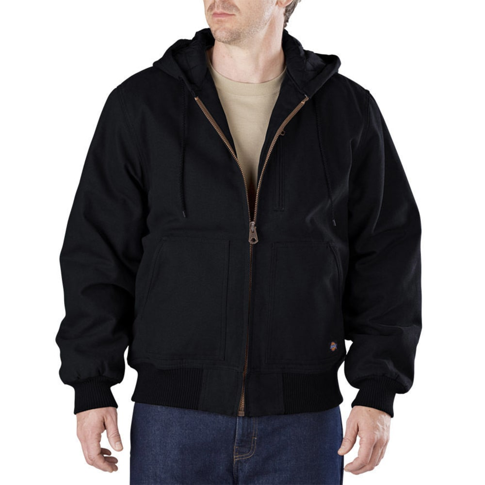 Dickies Men's Sanded Duck Hooded Jacket - Black, M