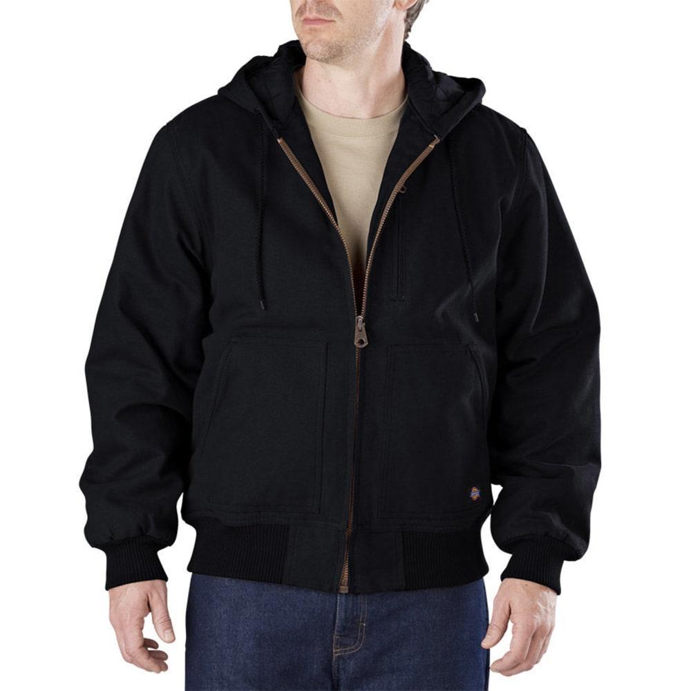 DICKIES Men's Sanded Duck Hooded Jacket - BLACK-BK