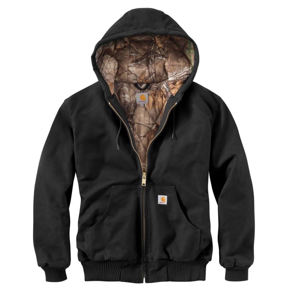 CARHARTT Men's Camo Lined Duck Active Jacket - BLACK/CAMO