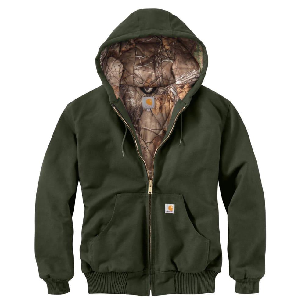 CARHARTT Men's Camo Lined Duck Active Jacket - MOSS