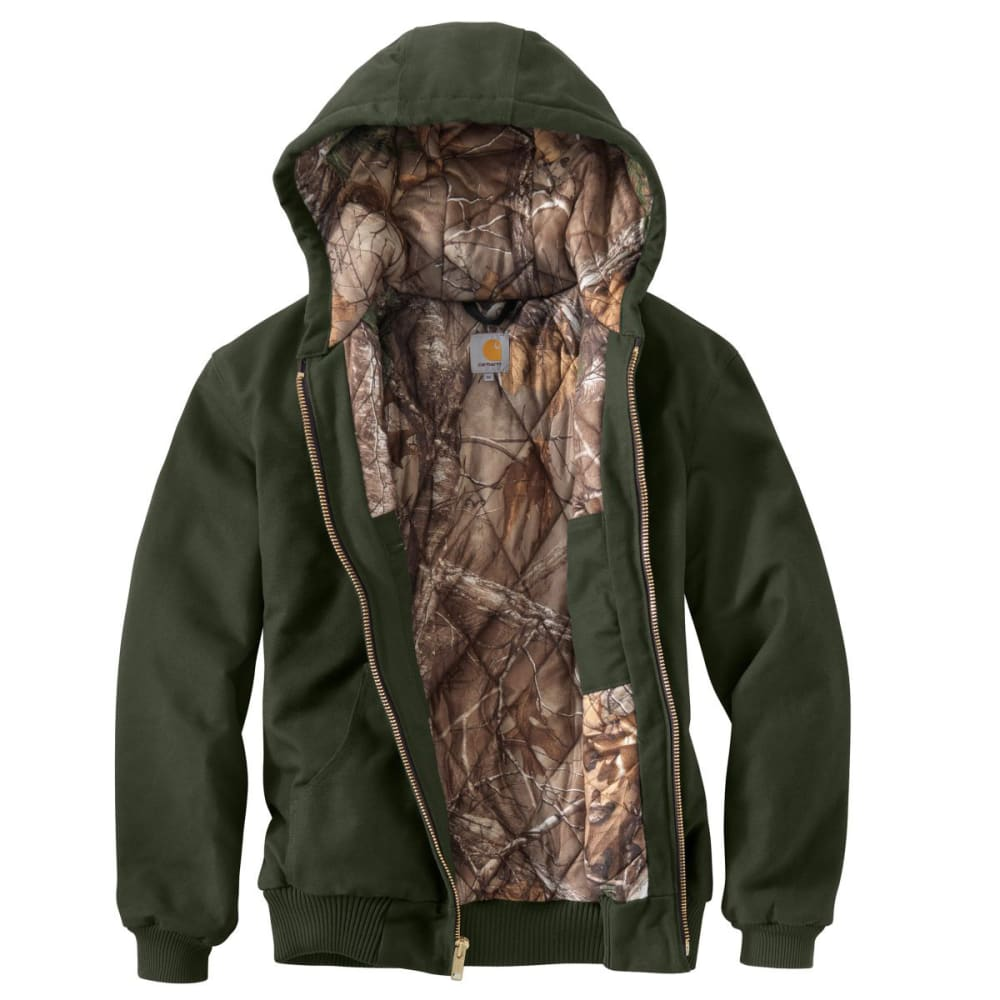 CARHARTT Men's Camo Lined Duck Active Jacket - MOSS