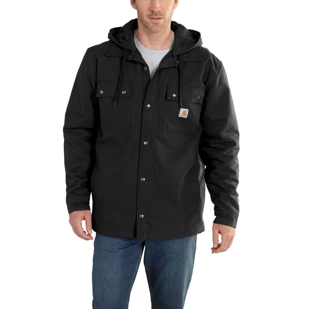 Carhartt Men's Quick Duck Roane Hooded Shirt Jac - Black, M