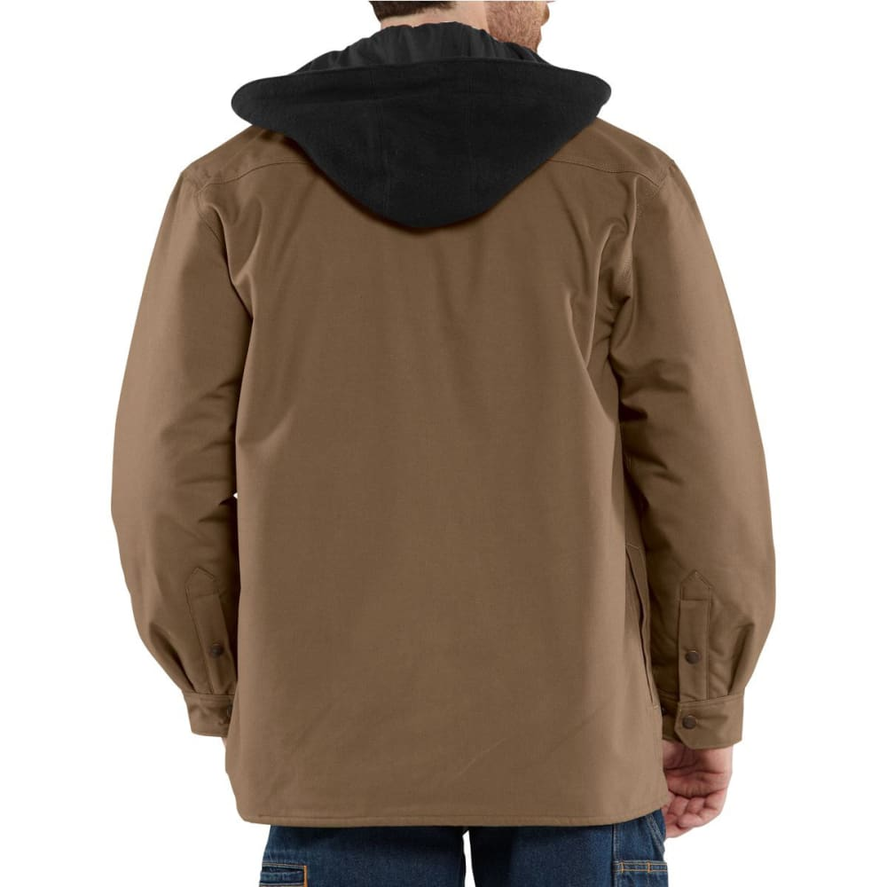 CARHARTT Men's Quick Duck Roane Hooded Shirt Jac - CANYON BROWN