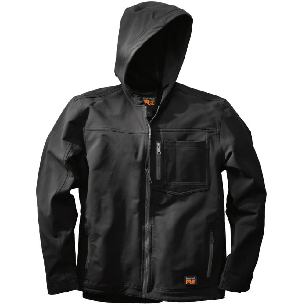 TIMBERLAND PRO Men's Power Zip Hooded Soft Shell Jacket - BLACK 015