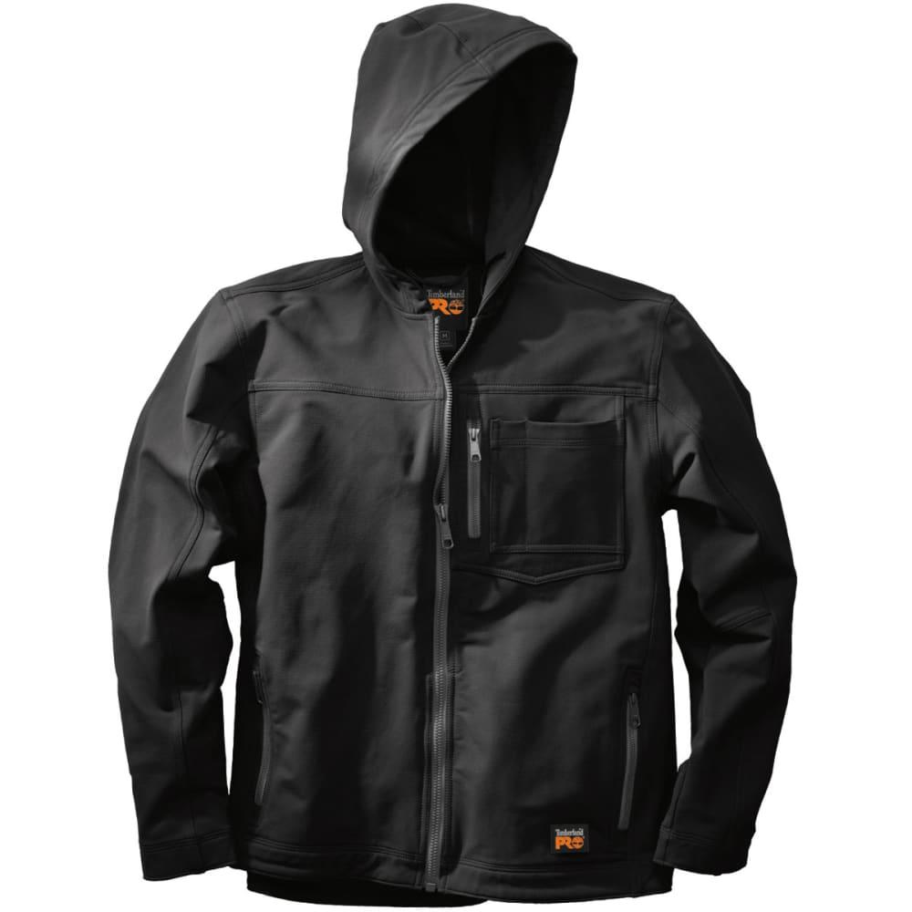 TIMBERLAND PRO Men's Power Zip Hooded Soft Shell Jacket - BLACK 015